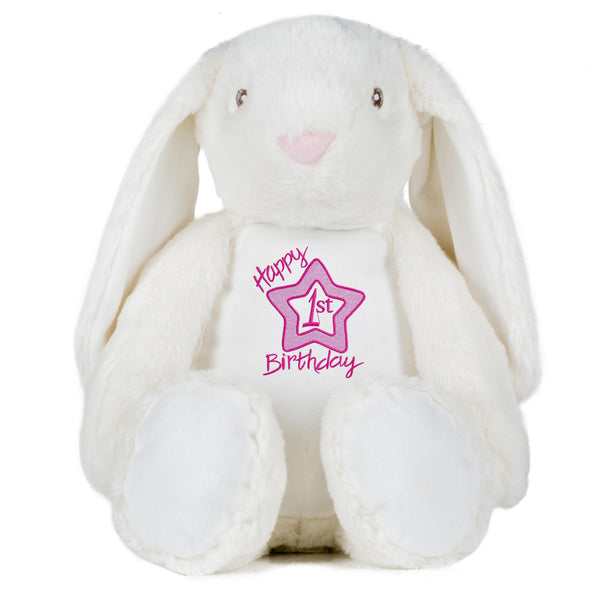 Gorgeous Personalised Bunny - 1st Birthday - girl
