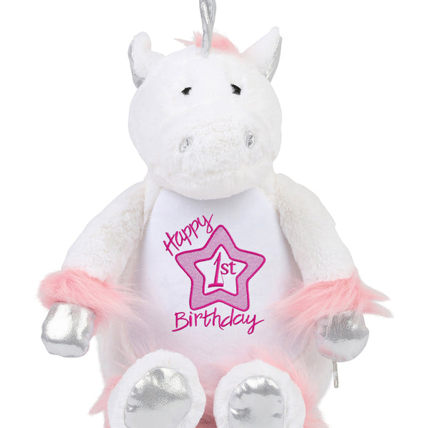 Gorgeous Personalised Unicorn - 1st Birthday -