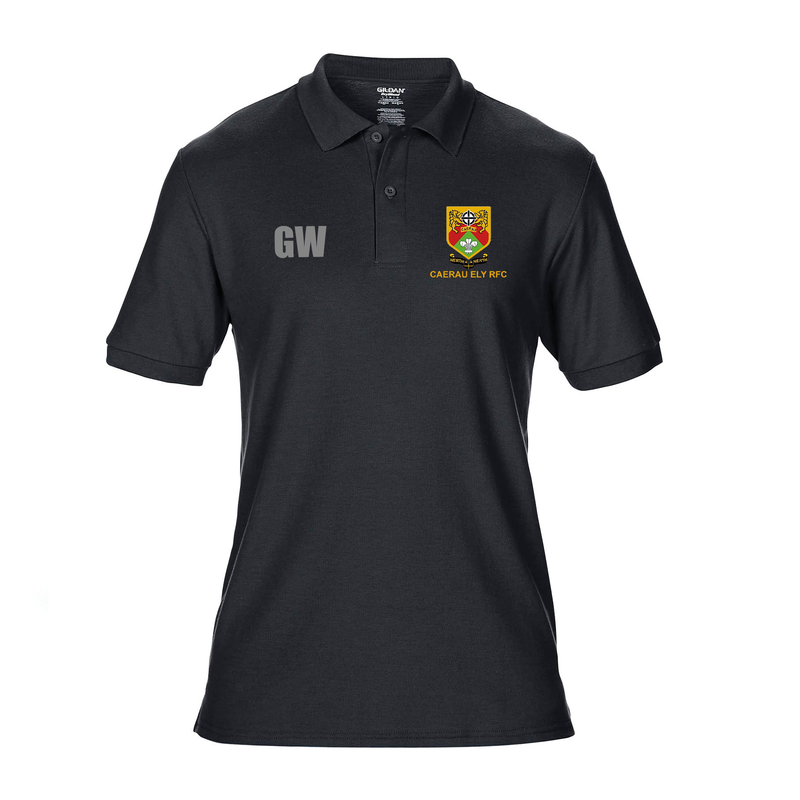 Polo Shirt Black - Caerau Ely RFC
