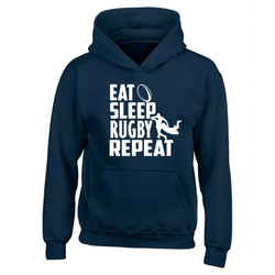 Eat Sleep Rugby Repeat - Children's Hoody