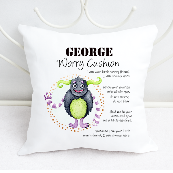 Boys Personalised Cartoon Long Arms Worry Cushion
