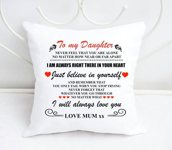 'To My Daughter' Personalised Cushion