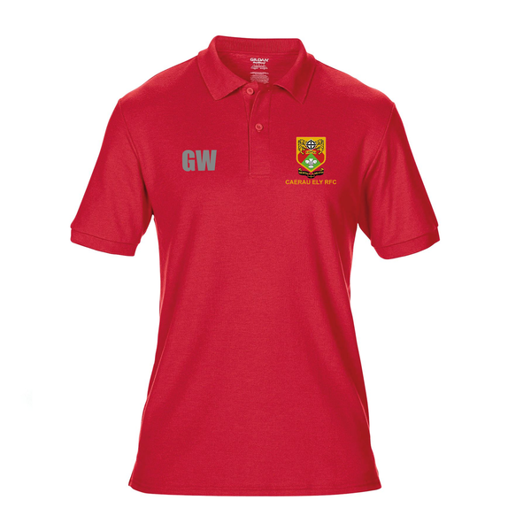 Polo Shirt Red- Caerau Ely RFC