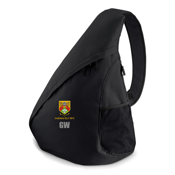 Teardrop Bag Black - Caerau Ely RFC