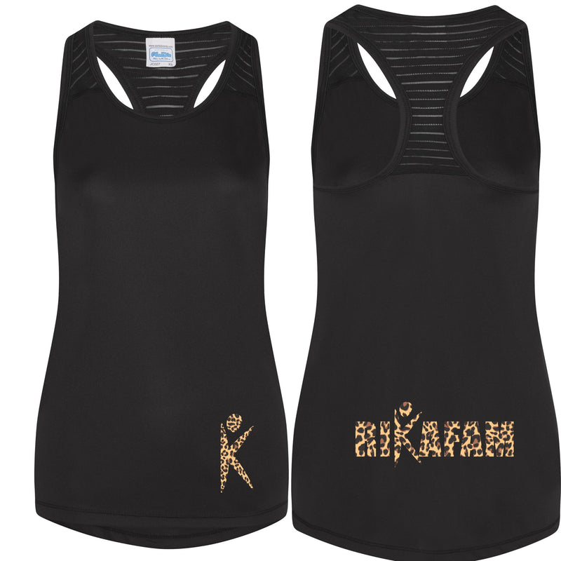 Rika Smooth Workout Vest - Leopard logo