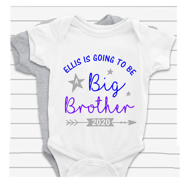 I'm Going To Be a Big Brother - Name & Date Baby Vest