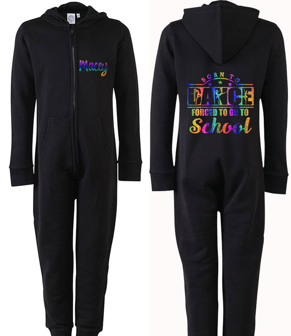 Born To Dance, Forced To School Personalised Onesie