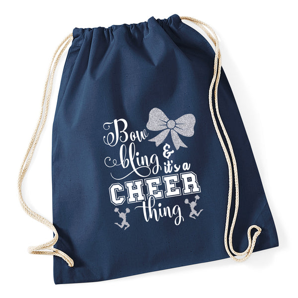 Bow Bling Cheerleading Drawstring Bag