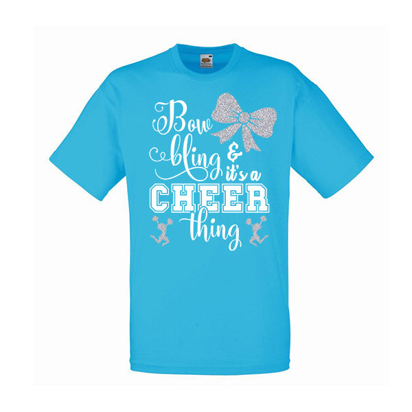 Bow Bling Cheerleading Tshirt