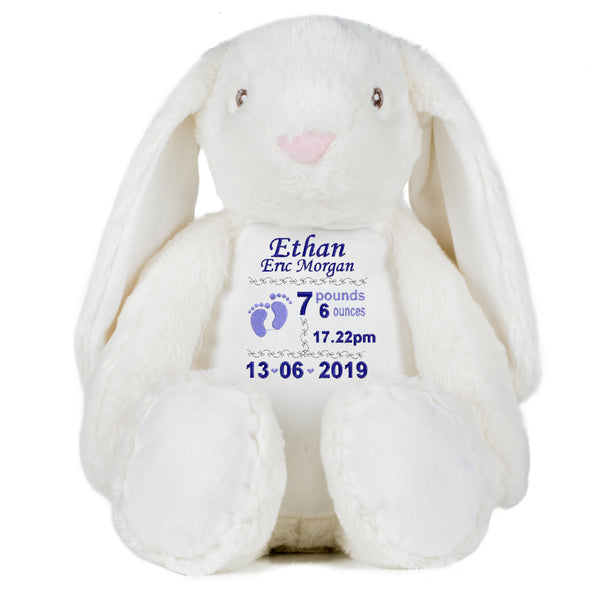 Gorgeous Personalised Baby Bunny - Birth announcement - Boy