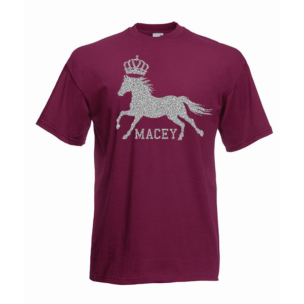 Horse Riding Crown Personalised Tshirt