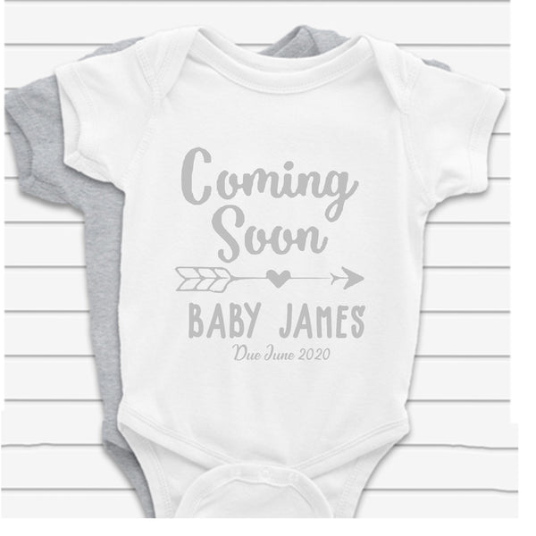 Coming Soon Name Baby Vest