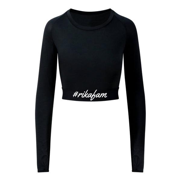 #Rikafam Ladies Long Sleeve Crop