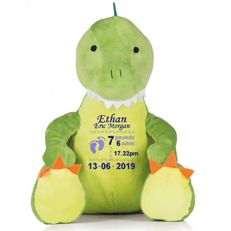 Gorgeous Personalised Dinosaur - Birth announcement