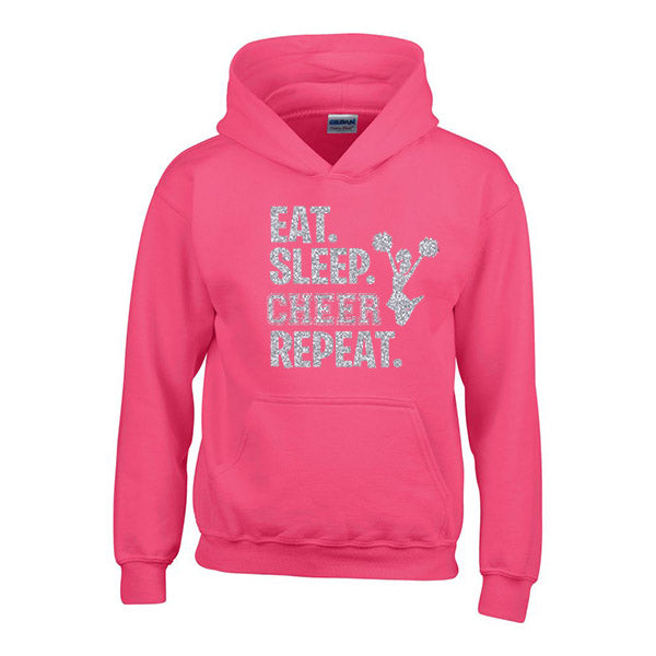 Eat Sleep Cheer Repeat Personalised Hoodie