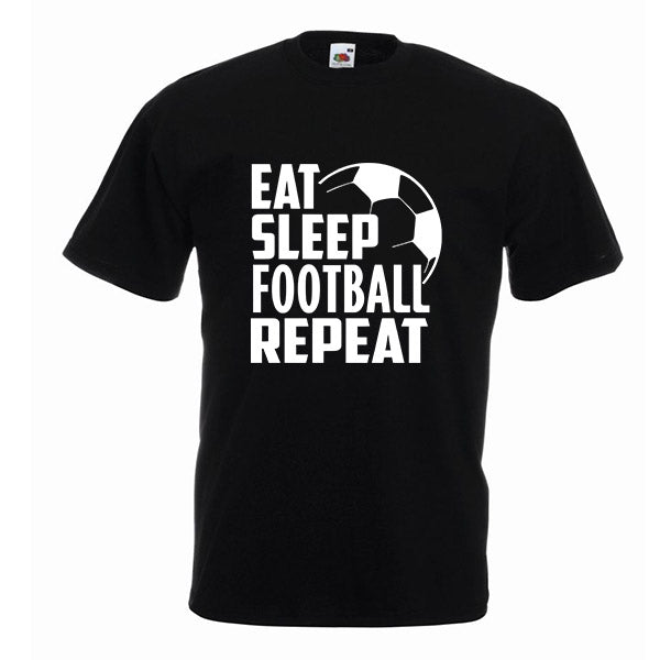 Eat Sleep Football Repeat Tshirt