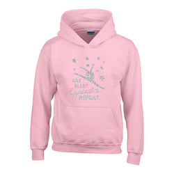 Eat Sleep Gymnastics Repeat Personalised Hoodie