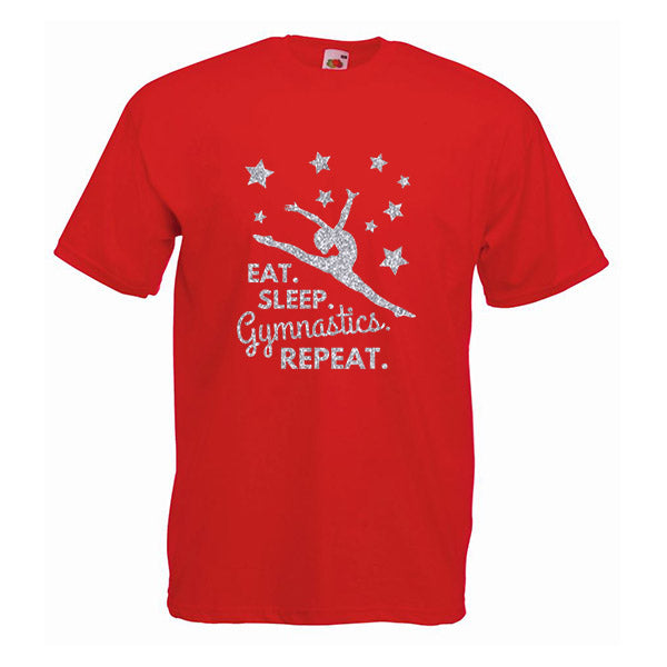 Eat Sleep Gymnastics Repeat Tshirt