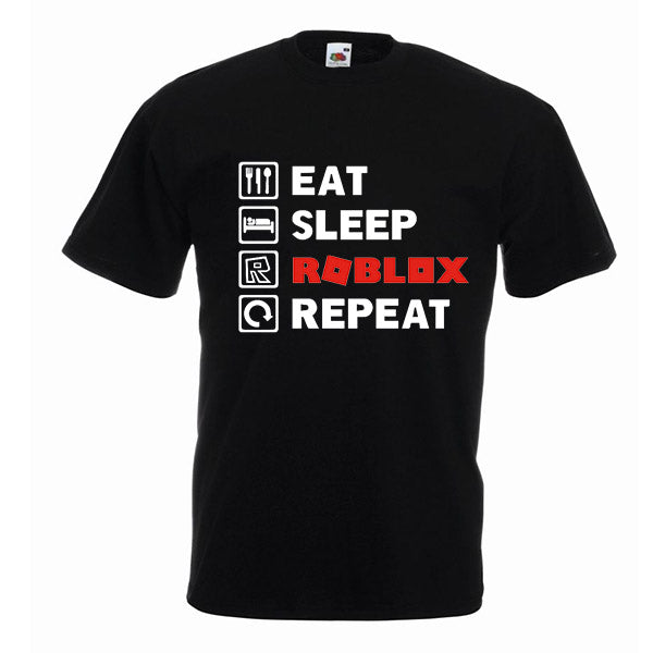 Eat Sleep Roblox Repeat Tshirt