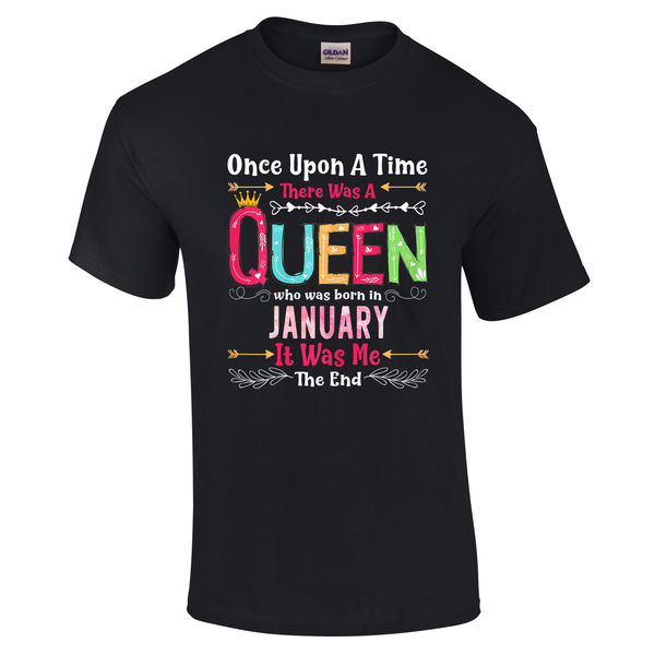 Queen Born In January Fairytale Tshirt