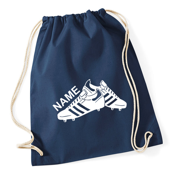 Football Boots Personalised Drawstring Bag
