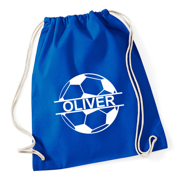 Football Personalised Drawstring Bag