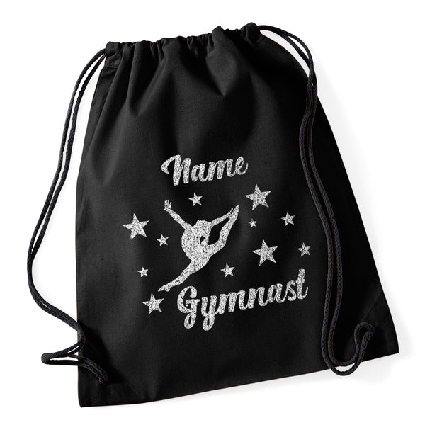 Gymnast Stars Drawstring Bag