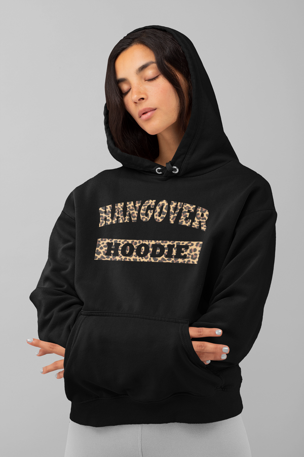 Adults Leopard Print Hangover Hoodie