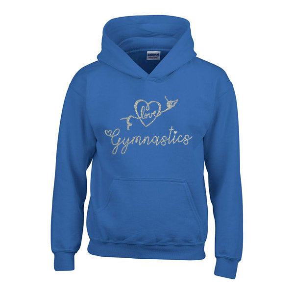 Love Gymnastics Personalised Hoodie