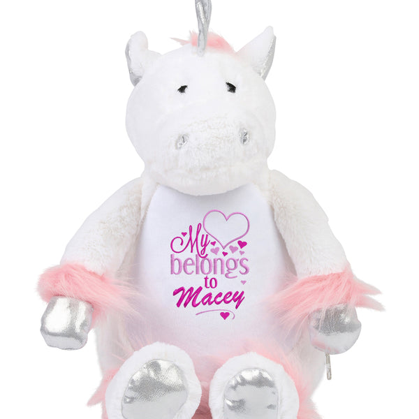 Gorgeous Personalised Unicorn - My heart belongs to