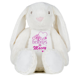 Gorgeous Personalised Bunny - My heart belongs to