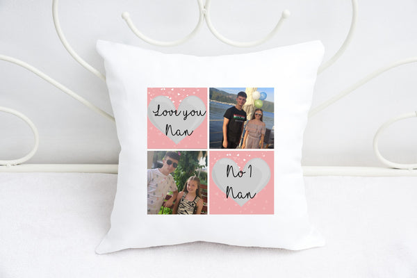 """Love you Nan"" Personalised Photo Cushion"