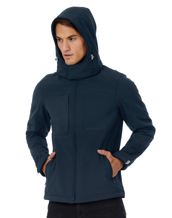 B & C Hooded Softshell Jacket