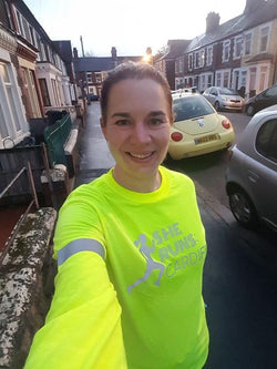 She Runs Cardiff Neon Yellow Long Sleeve