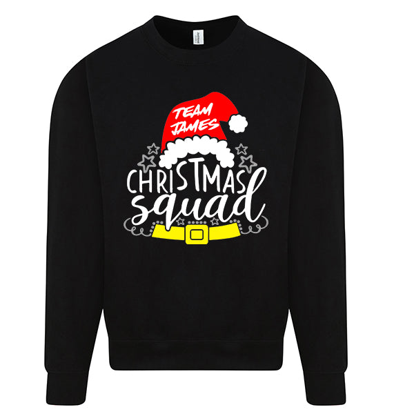 Team James Christmas Squad - Personalised Christmas Jumper