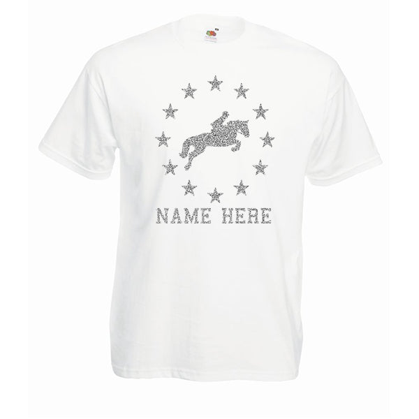 Horse Riding Stars Personalised Tshirt
