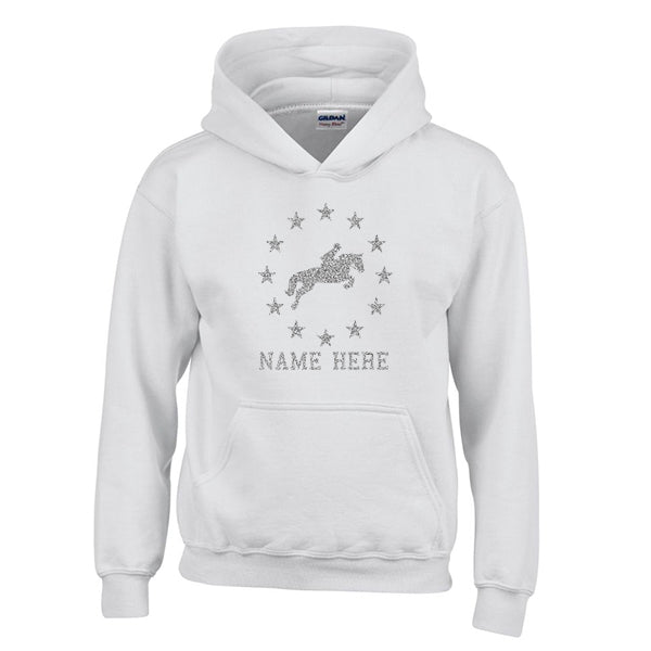 Personalised Horse Riding Hoodie With Stars