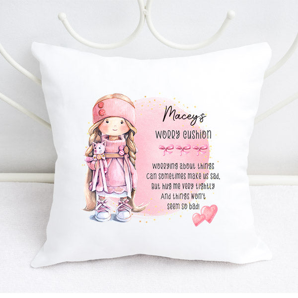 Girls Personalised Worry Cushion