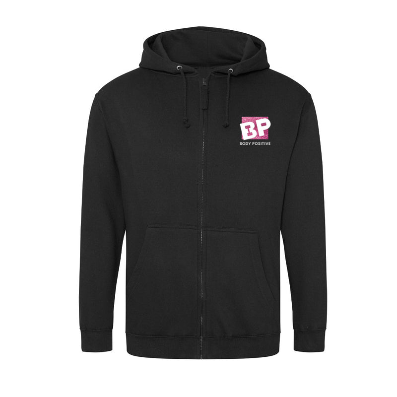 Zip up Hoodie Black - Body Positive