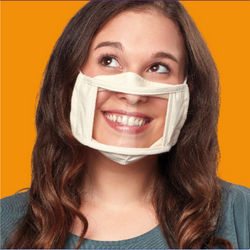 Adult Smile Mask - Beige