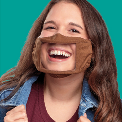 Adult Smile Mask - Brown