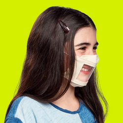 Child Smile Mask - Beige