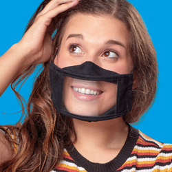 Adult Smile Mask - Black