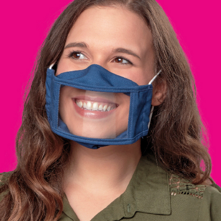 Adult Smile Mask - Navy