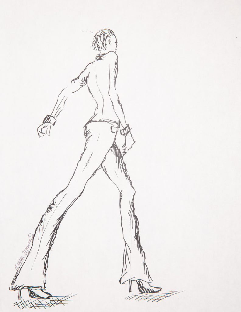 "Fashion Illustration ""Black And White Strut"""
