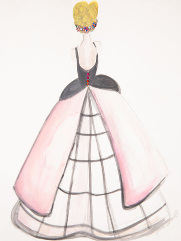 "Fashion Illustration ""Sarah Jessica Parker Met Gala"""
