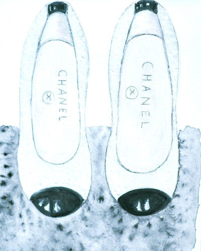 "Watercolor Illustration ""Chanel Flats"""
