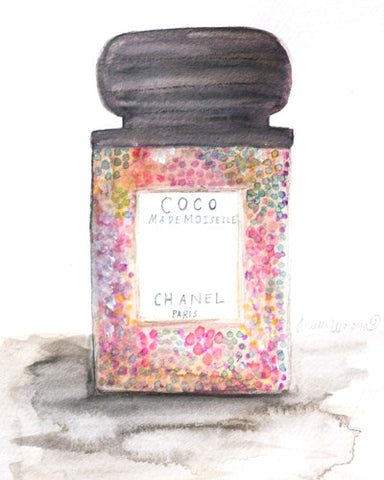 "Watercolor Illustration ""Coco Mademoiselle Chanel Perfume"""