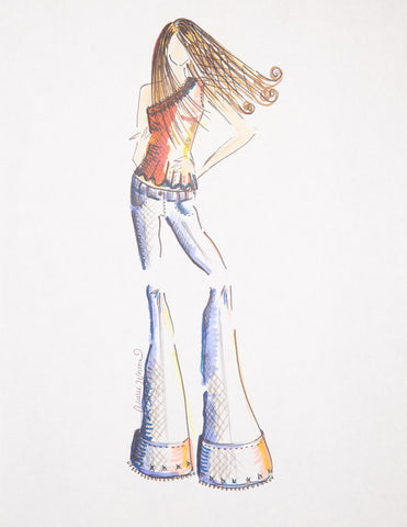 "Fashion Illustration ""Flares"""