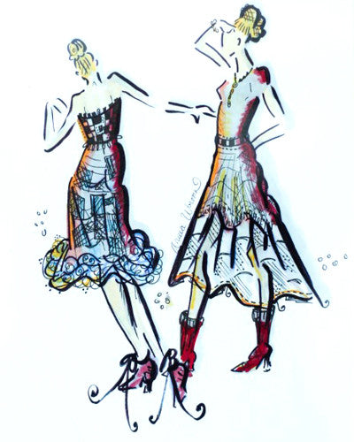 "Fashion Illustration: ""Gowns Graphics"""